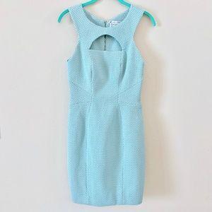 Yoana Baraschi Blue Cut Out Sheath Dress 4